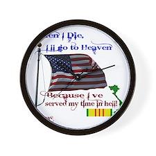 When I Die... Vietnam Wall Clock