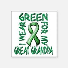 """I Wear Green for my Great G Square Sticker 3"""" x 3"""""""