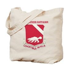 DUI - 94th Engineer Battalion with Text Tote Bag