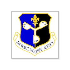 "USAF Air Force National Cap Square Sticker 3"" x 3"""