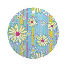 Colorful Daisies Round Ornament