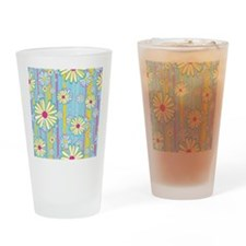 Colorful Daisies Drinking Glass