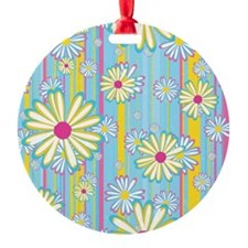 Colorful Daisies Ornament