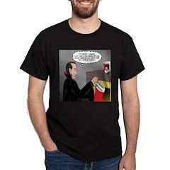 A Vampire Contemplates Santa T-Shirt