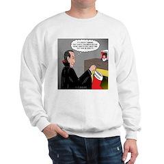 A Vampire Contemplates Santa Sweatshirt