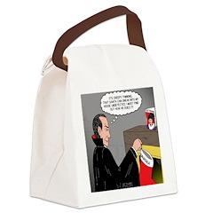 A Vampire Contemplates Santa Canvas Lunch Bag
