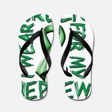 I Wear Green for my Nephew Flip Flops