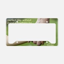 perfect day License Plate Holder