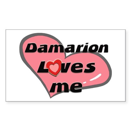 damarion loves me Rectangle Sticker