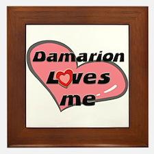 damarion loves me  Framed Tile