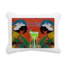 Its 5 OClock Parrots Rectangular Canvas Pillow