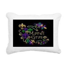 Mardi Gras Accents Rectangular Canvas Pillow