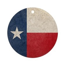 Texas Flag Round Ornament