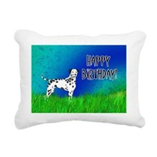 Birthday Dalmatian Rectangular Canvas Pillow