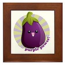 Purple Power! Framed Tile