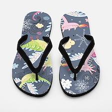 Cute Dragons Flip Flops