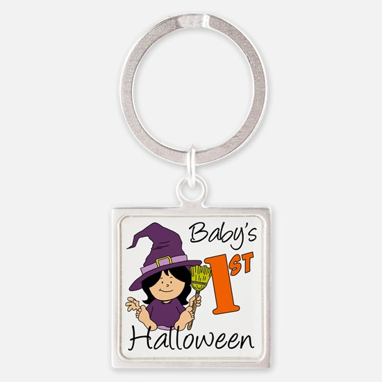 First Halloween Girl Square Keychain