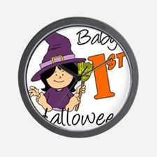 First Halloween Girl Wall Clock