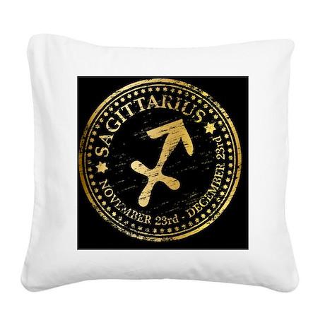 Sagittarius Square Canvas Pillow