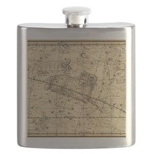 Vintage Aries Celestial Map Flask