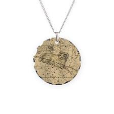 Vintage Aries Celestial Map Necklace