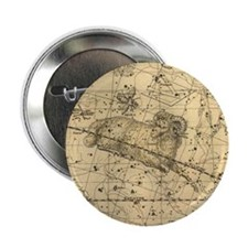 "Vintage Aries Celestial Map 2.25"" Button"