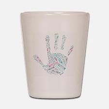 Autism Awareness - Talk To The Hand Shot Glass