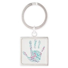 Autism Awareness - Talk To The Han Square Keychain