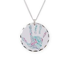 Autism Awareness - Talk To T Necklace Circle Charm