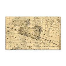 Vintage Aries Celestial Map Rectangle Car Magnet