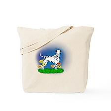 Dalmatian with Daisies Tote Bag