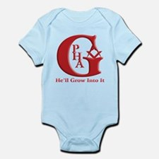 PHA He'll Grow into it. Infant Bodysuit