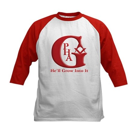 PHA He'll Grow into it. Kids Baseball Jersey