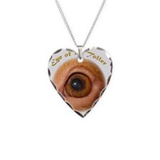 Eye of the Toller Necklace Heart Charm