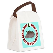 I Want A Hippopotamus for Christm Canvas Lunch Bag