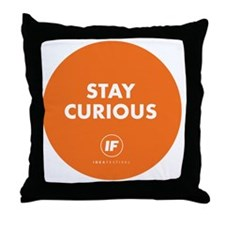 2012 Stay Curious Round Throw Pillow