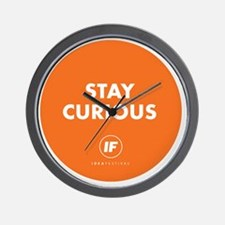 2012 Stay Curious Round Wall Clock