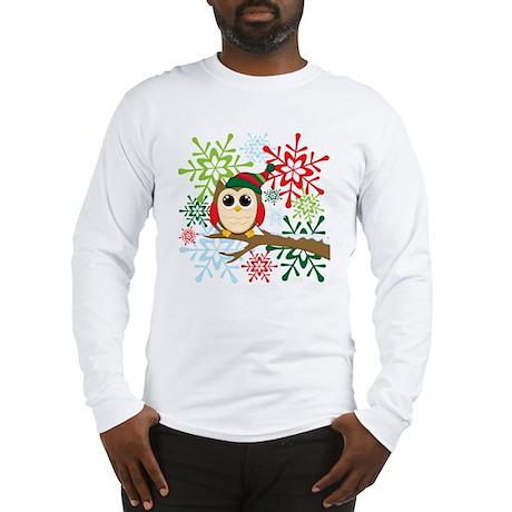 Owl Christmas Long Sleeve T-Shirt