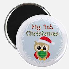 My 1st Christmas owl (boy) Magnet