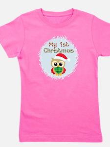 My 1st Christmas owl (boy) Girl's Tee