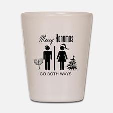 Merry Hanumas - Go Both Ways Shot Glass