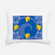 Manatee Picture Frame Rectangular Canvas Pillow