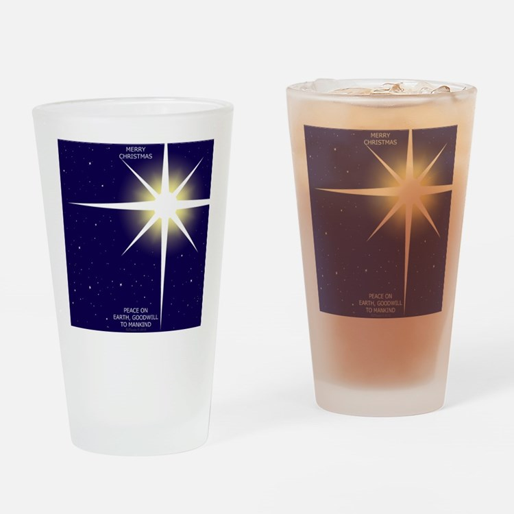 Christmas Star Drinking Glass
