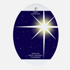 Christmas Star Ornament (Oval)