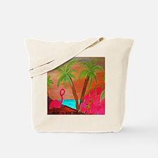 Flamingo in Paradise Art Tote Bag