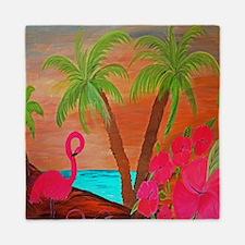 Flamingo in Paradise Art Queen Duvet