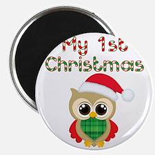 My 1st Christmas owl Magnet