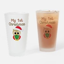 My 1st Christmas owl Drinking Glass