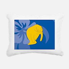 Manatee Picture Ornament Rectangular Canvas Pillow