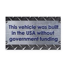 Built in the USA Rectangle Car Magnet